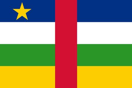 flag of Central African Republic. Vector illustration Ilustração