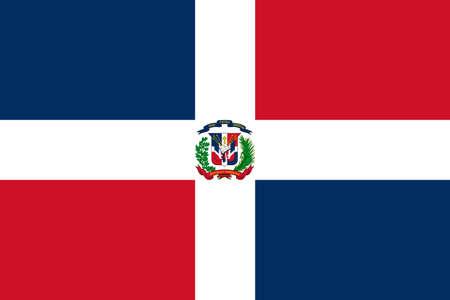 flag of Dominican Republic. Vector illustration