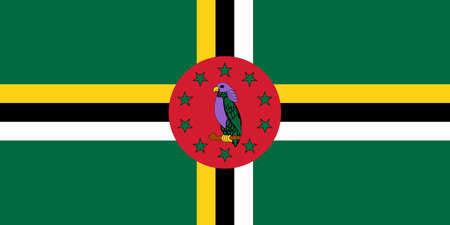 flag of Dominica. Vector illustration Ilustração