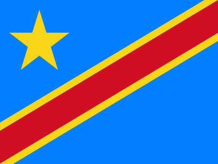 flag of Democratic Republic Congo. Vector illustration Ilustração