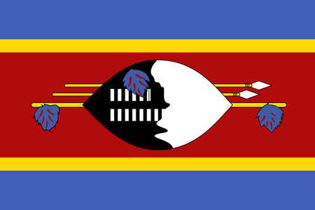flag of Eswatini. Vector illustration Ilustração