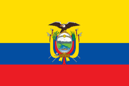 flag of Ecuador. Vector illustration