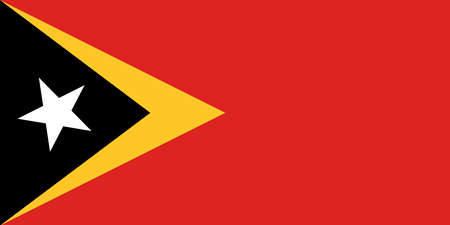flag of East Timor. Vector illustration Ilustração
