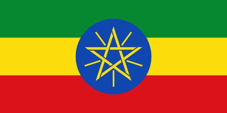 flag of Ethiopia. Vector illustration