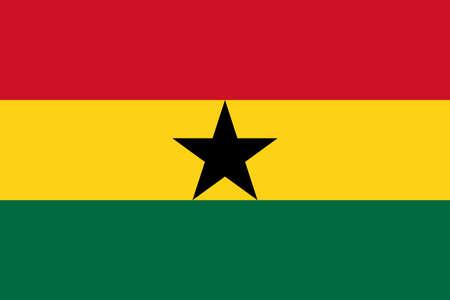 Flag of Ghana Vector illustration Ilustração