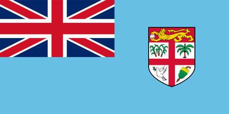 Flag of Fiji Vector illustration