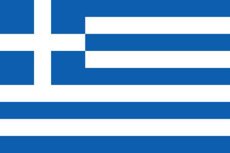 Flag of Greece Vector illustration Ilustração