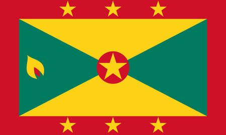 Flag of Grenada Vector illustration Ilustração