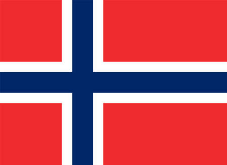 flag of Norway Vector illustration Vektorgrafik