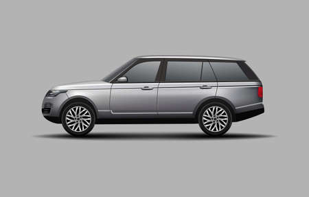 Realistic SUV car side view vector illustration 일러스트
