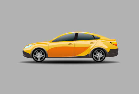 Car vector on background. Business sedan isolated. Vehicle mockup