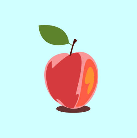 Vector object of apple with a white background for graphic design