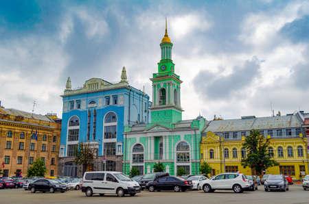 KIEV UKRAINE - JUNE 16,2016 Contract square of Kiev, Ukraine. Kiev is the capital and the largest city of Ukraine 版權商用圖片