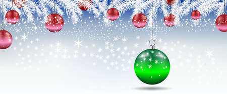 Background with Christmas balls. Vector illustration