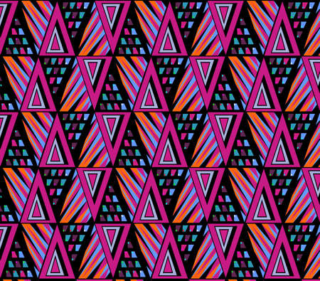 Geometrical pattern. Abstract background. Colorful lines. Vector illustration