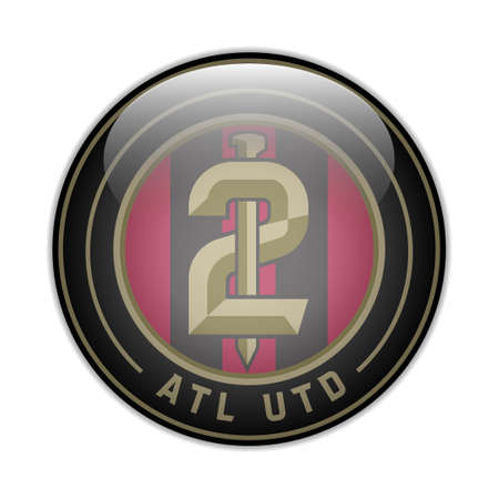 Atlanta United FC USA football club Vector illustration 矢量图像