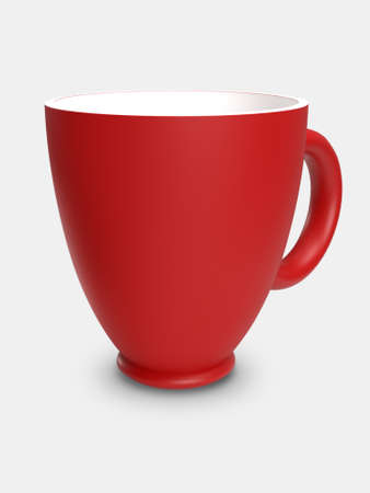 Red cup with on a white background