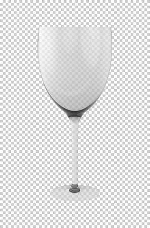 Transparent glass for wine or brandy or champagne