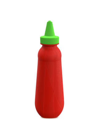 Tomato ketchup bottle isolated on white background 免版税图像