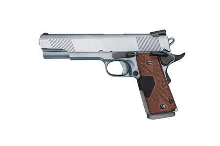 Pistol gun isolated on white background in 3d illustration style