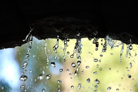 fountain close-up water droplets smooth background Stockfoto