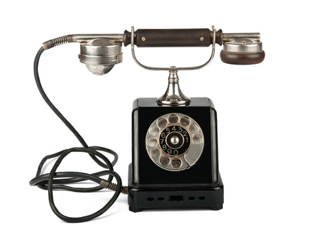 old phone on a white background Stok Fotoğraf