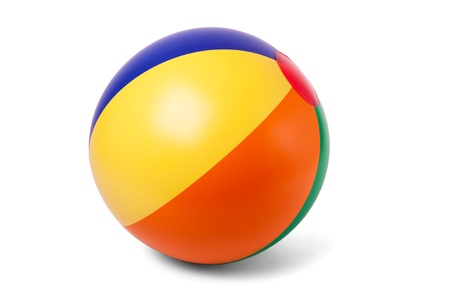 colourful ball: Bright inflatable ball on white Stock Photo