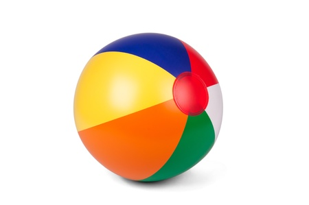 beach ball: Bright inflatable ball isolated on white background Stock Photo