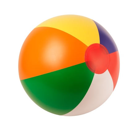 Bright inflatable ball isolated on white background Stok Fotoğraf