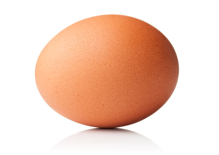 yolk: Brown chicken egg isolated  Stock Photo