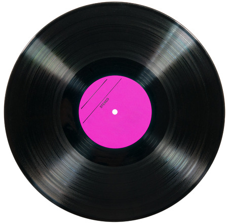 Vinyl disc isolated on white background
