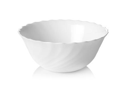 White ceramic bowl isolated on white background Stok Fotoğraf