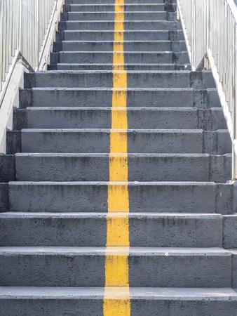 Stairs of footbridge