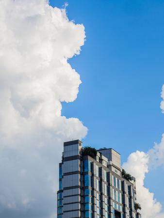pinnacle: Pinnacle of building with blue sky