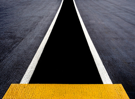 race start: Runway or lane painted on an aircraft carrier