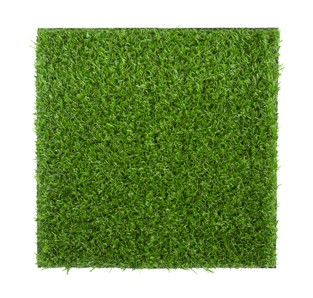 Artificial grass sheet isolated on white background (readey to make selection with clipping path)