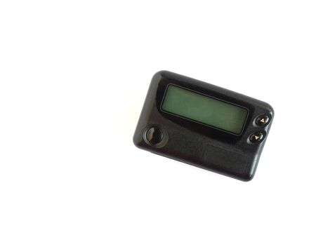 pager: Old pager device isolated on white background Stock Photo