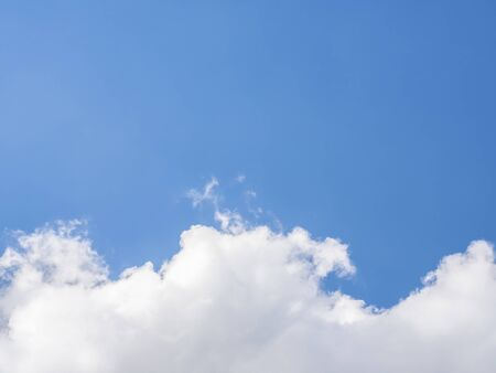Blue sky with cloudy on the bright sunny day with copy space