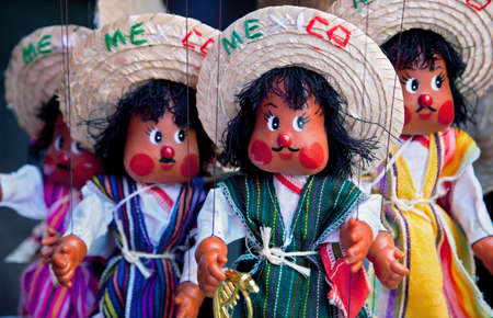 puppets: Some Mexican puppets in their traditional dress