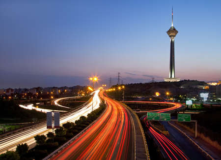 Tehran at night Editorial