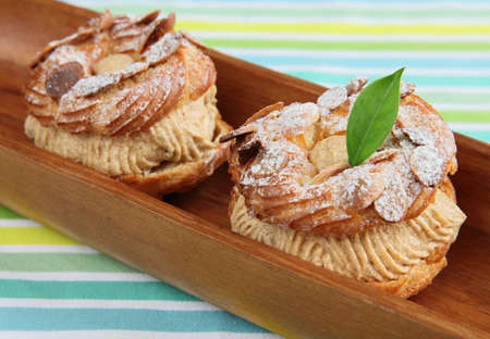 choux: Choux Pastry in wooden plate