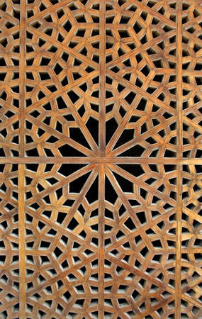 Old wooden latticework photo