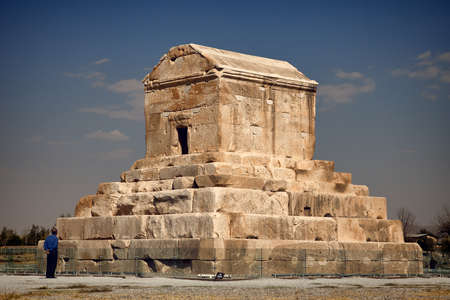 cyrus: Tomb of Cyrus the Great in Pasargadae of Iran  Editorial