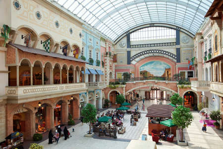 mall of the emirates: Mercato Shopping Mall in dubai. The mall is designed to look like a Mediterranean town during the European Renaissance in either Italy, France, or Spain.