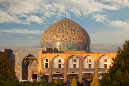 Sheikh Lotfollah Mosque in Naghshe Jahan or Imam Square of Isfahan Stock Photo
