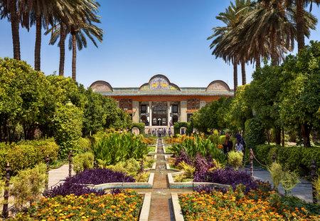 Casa Qavam y jardín Eram, Shiraz, Irán. La casa es una casa tradicional e histórica en la ciudad de Shiraz de Irán. Foto de archivo - 80296687