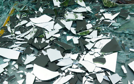 illegal dumping of Broken glass & mirror