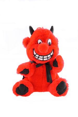 Plush puppet of red devil
