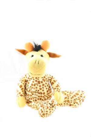 Plush toy of funny giraffe Stock Photo