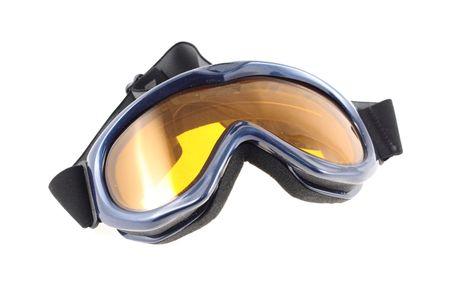 Ski goggles on white background Stock Photo